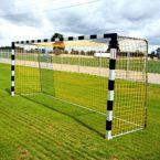 Bramka do piłki nożnej 5x2 m aluminiowa profil kwadratowy, tulejowana – przedłużona
