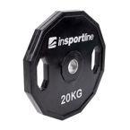 Gumowane obciążenie olimpijskie inSPORTline Ruberton 20 kg