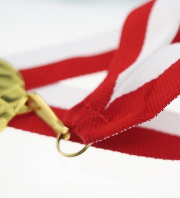Wstążka do medali biało-czerwona